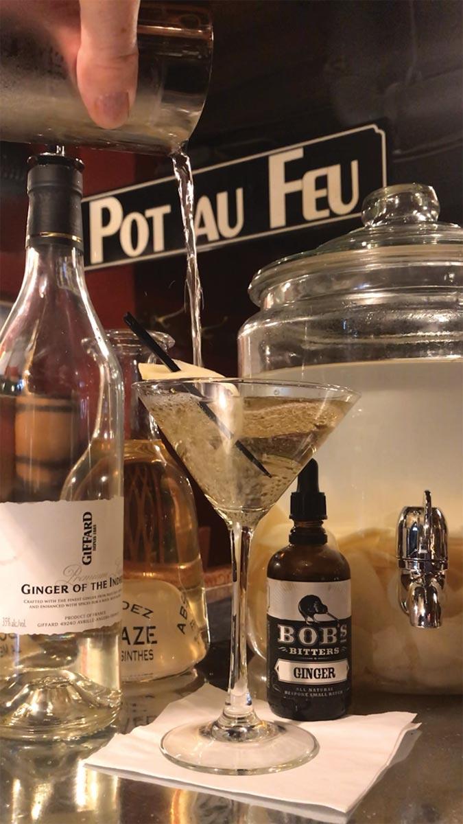Serving Up: The 5G Martini at Pot au Feu