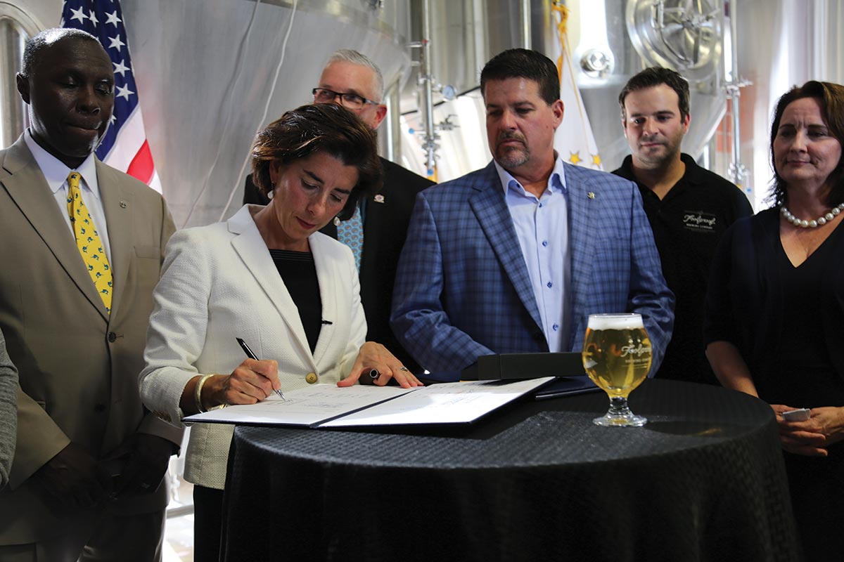 Governor Raimondo Toasts Small Business Reforms with Brewery Visit