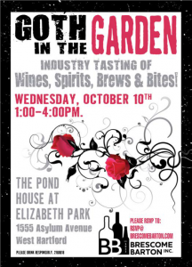 """Brescome Barton Presents """"Goth in the Garden"""" Trade Tasting @ The Pond House Cafe at Elizabeth Park, 