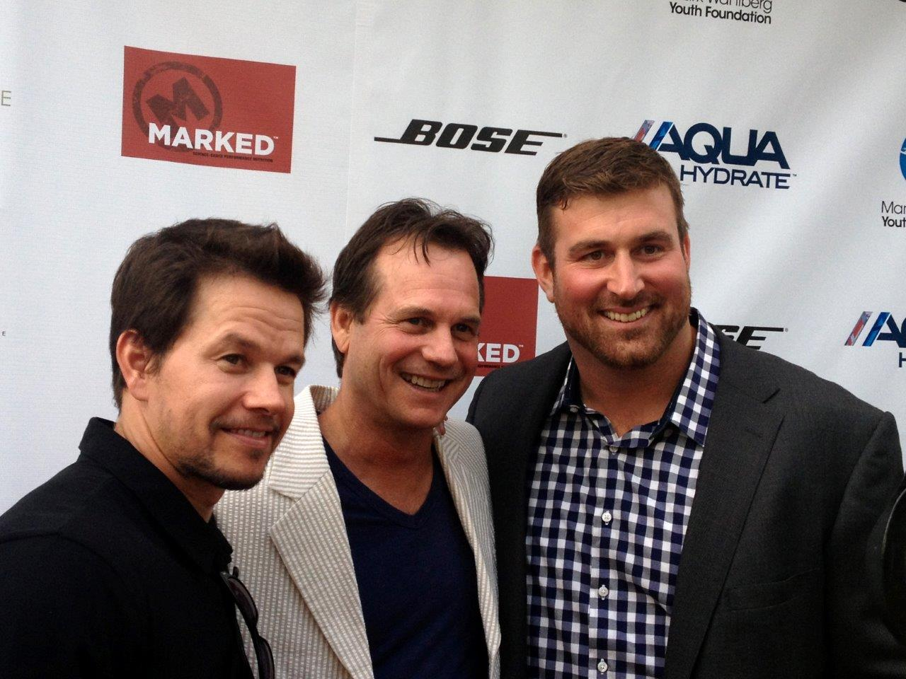 Actors Mark Wahlberg And Bill Paxton With Matt Light. The KEEL Sponsorship  Of The Recent