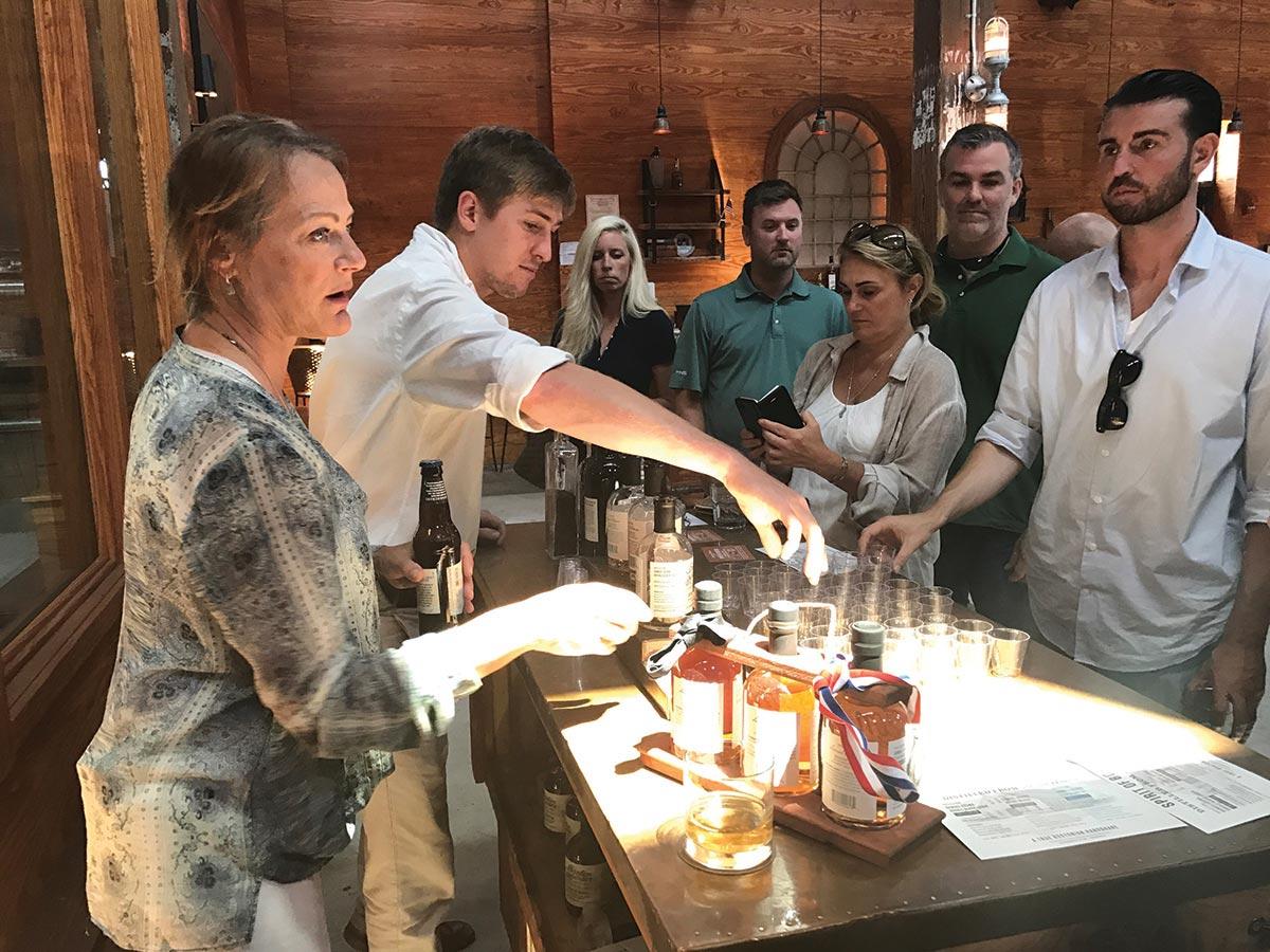 Johnson Brothers Sales Team Visits Boston Harbor Distillery