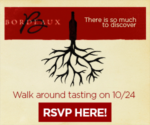 """October 24, 2018: """"Fall in Love with Bordeaux"""" Trade Tasting"""