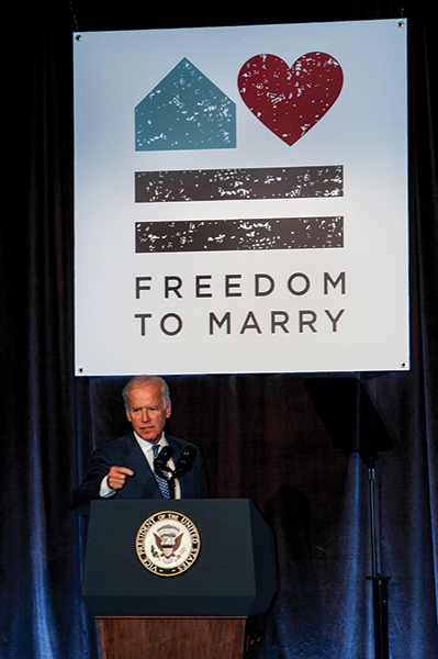 Vice President Biden Appears at Skyy Vodka Freedom to Marry Event