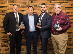 Steve Drew, Business Manager, CDI with Blue Nectar Tequila's Daniel Olech, National Sales Director; Carlos Rios, New York Market Manager; and Chris Leskowicz, Regional Market Director.