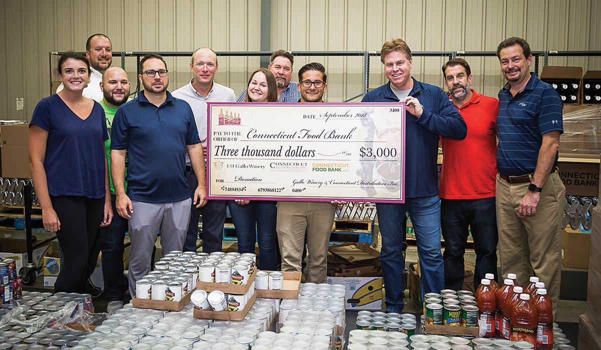 CDI and Gallo Present Donation to Connecticut Food Bank