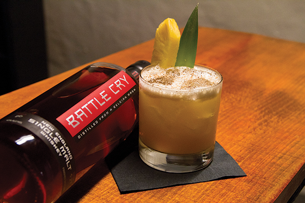 Captain Chris' Painkiller cocktail.