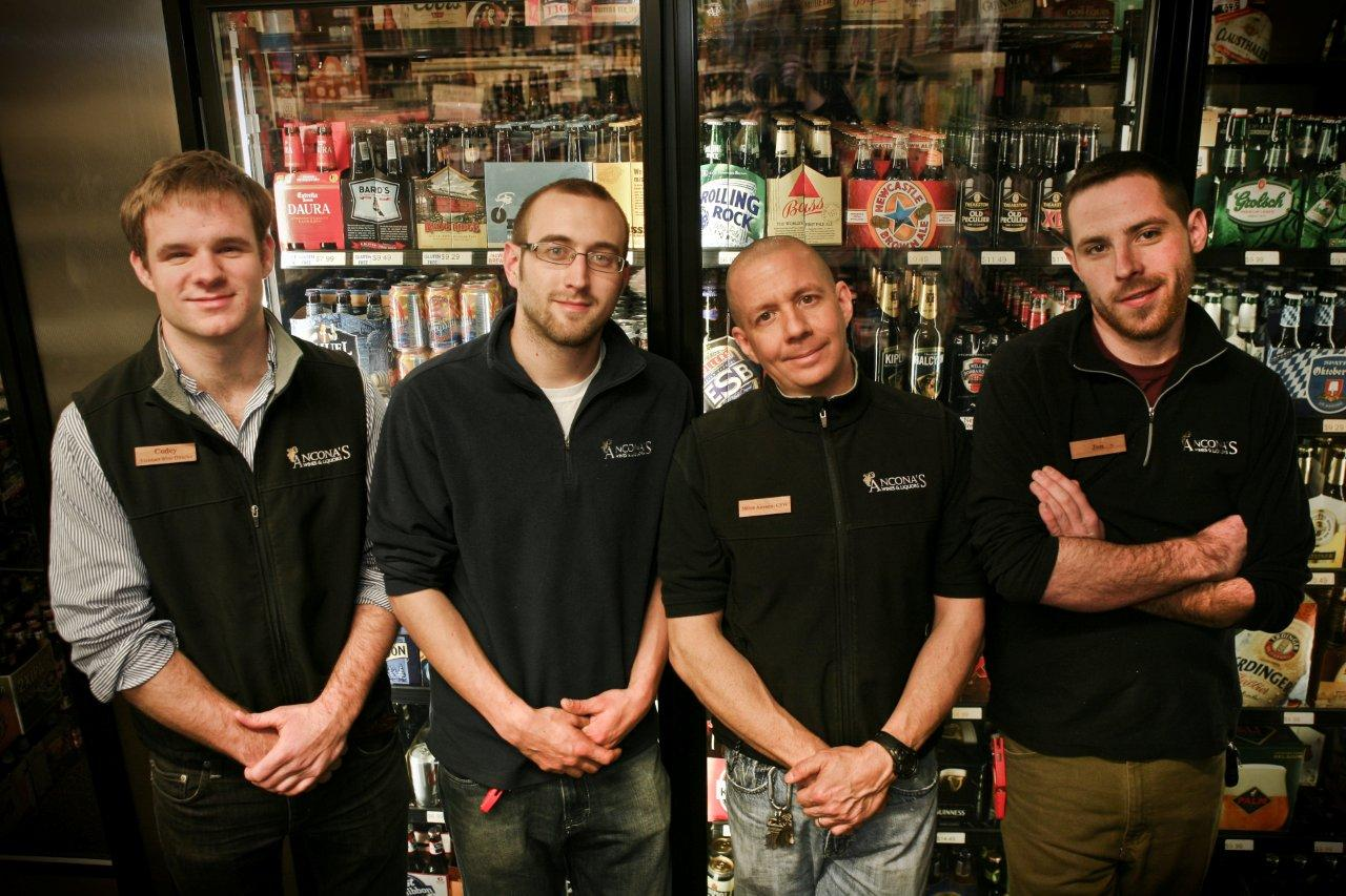 Know thy brew cicerone certification propels staff to new levels anconas cicerone certified beer servers codey foster justin bartholomew mitch ancona and jon leo xflitez Image collections