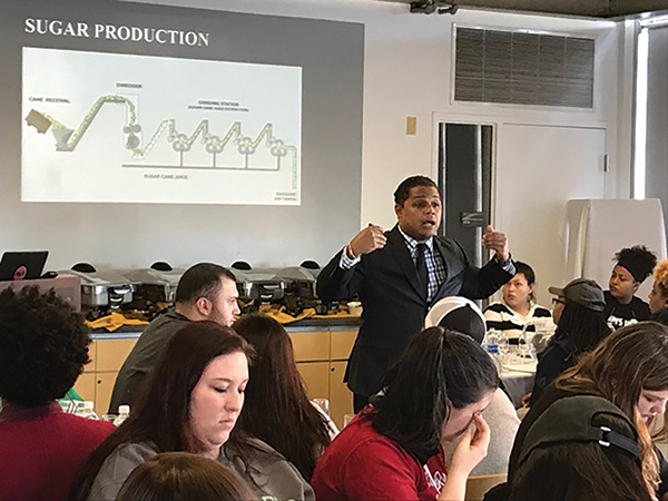 Bacardi Brand Master Visits UNH Hospitality Students
