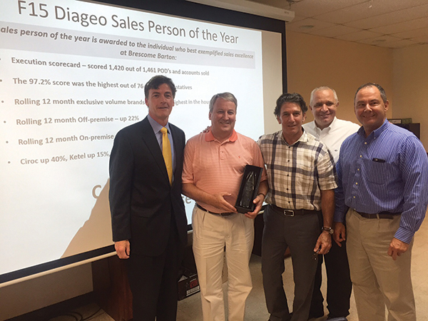 Diageo Recognizes Outstanding Local Sales Efforts