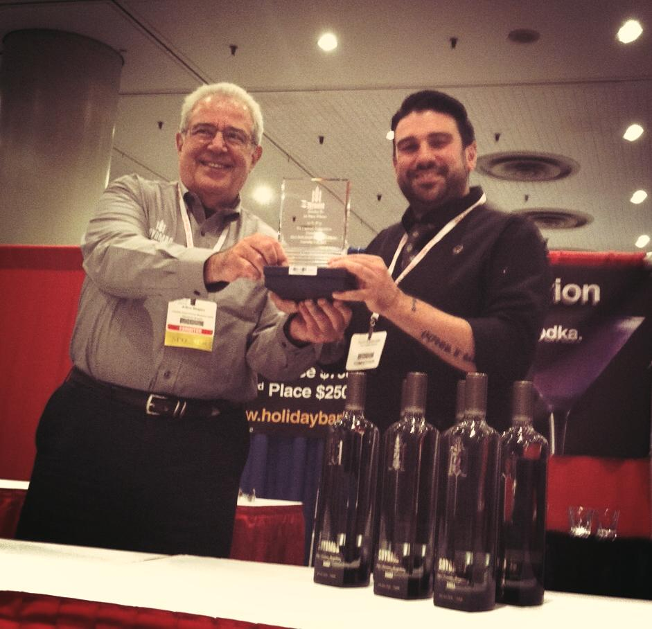 Zahariadis Wins NY Bar Buying Show Cocktail Competition