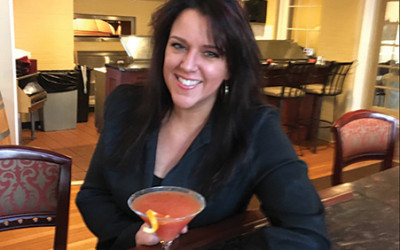 """Megan Crooker, Bar Manager, The Library with """"Party in the Library."""""""