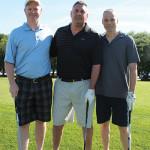 Gary Dritschler, Market Manager, Campari USA; Michael Bradley, Crazy Bruce's Liquors; Tony Trienis, Farmingdale Liquors.