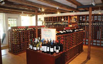 Inside Salisbury Wines.