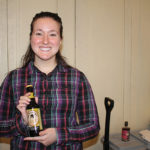 Nicole Arsenault showcasing Kentucky Bourbon Ale from Lexington Brewing and Distilling Co.