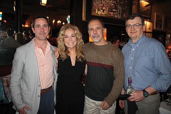 Brian Kociszewski, Regional Manager, Worldwide Wines; Kathie Lee Gifford; Tom Taylor, Sales Representative, Worldwide Wines; and Brian Mitchell, Beverage Director, Max Restaurant Group.