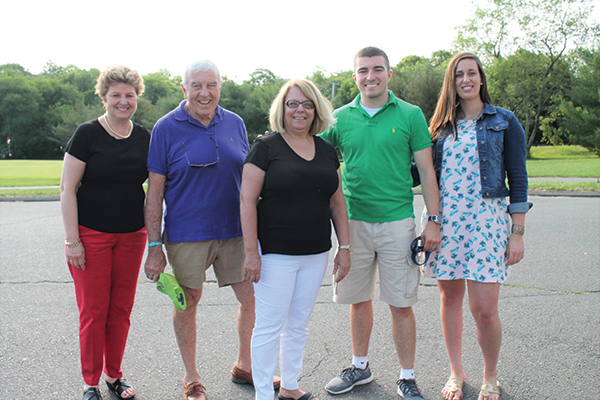 All from the Connecticut Package Stores Association (CPSA): Jean Cronin, Carroll J. Hughes, Judy Ganswindt, Sean Hughes, Mallory Daley.