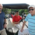CPSA Board Members Chris Battista, Ledgebrook Wines & Spirits and Stateline Wine & Spirits; Deepak Pattani, Yankee Discount Liquor; Curt Hopkins, Supersaver Wine & Spirits and CPSA Treasurer.
