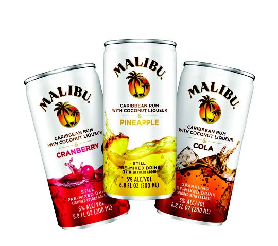MALIBU EXPANDS SINGLE-SERVE COCKTAILS