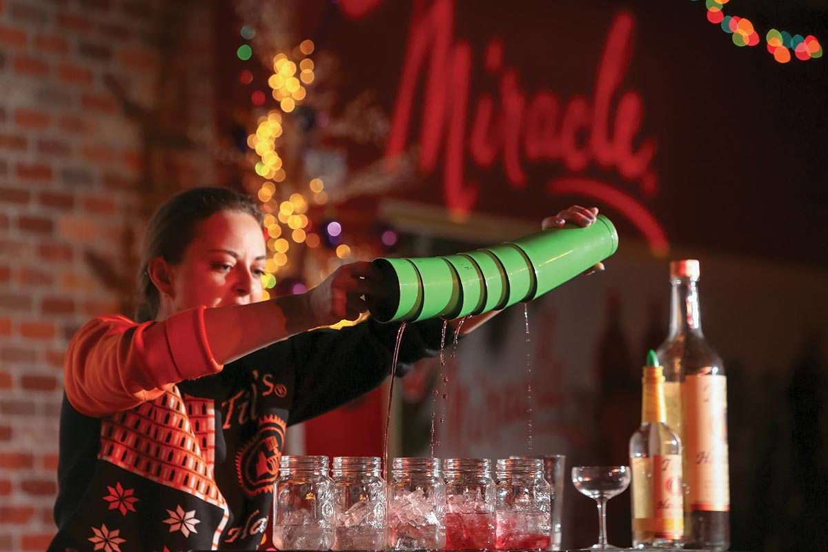 Holiday Flair Bartending Showcase Benefits Toys for Tots