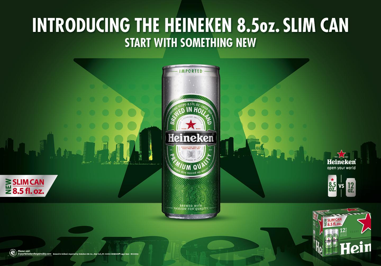 Heineken Usa Debuts New 8 5 Oz Slim Can The Beverage