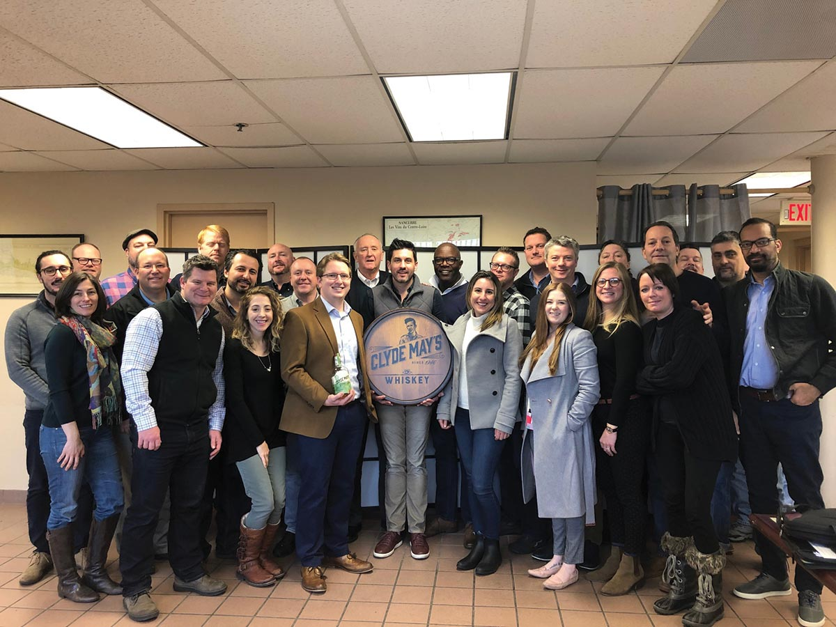 Slocum & Sons Hosts Visit from Clyde May's Whiskey Team