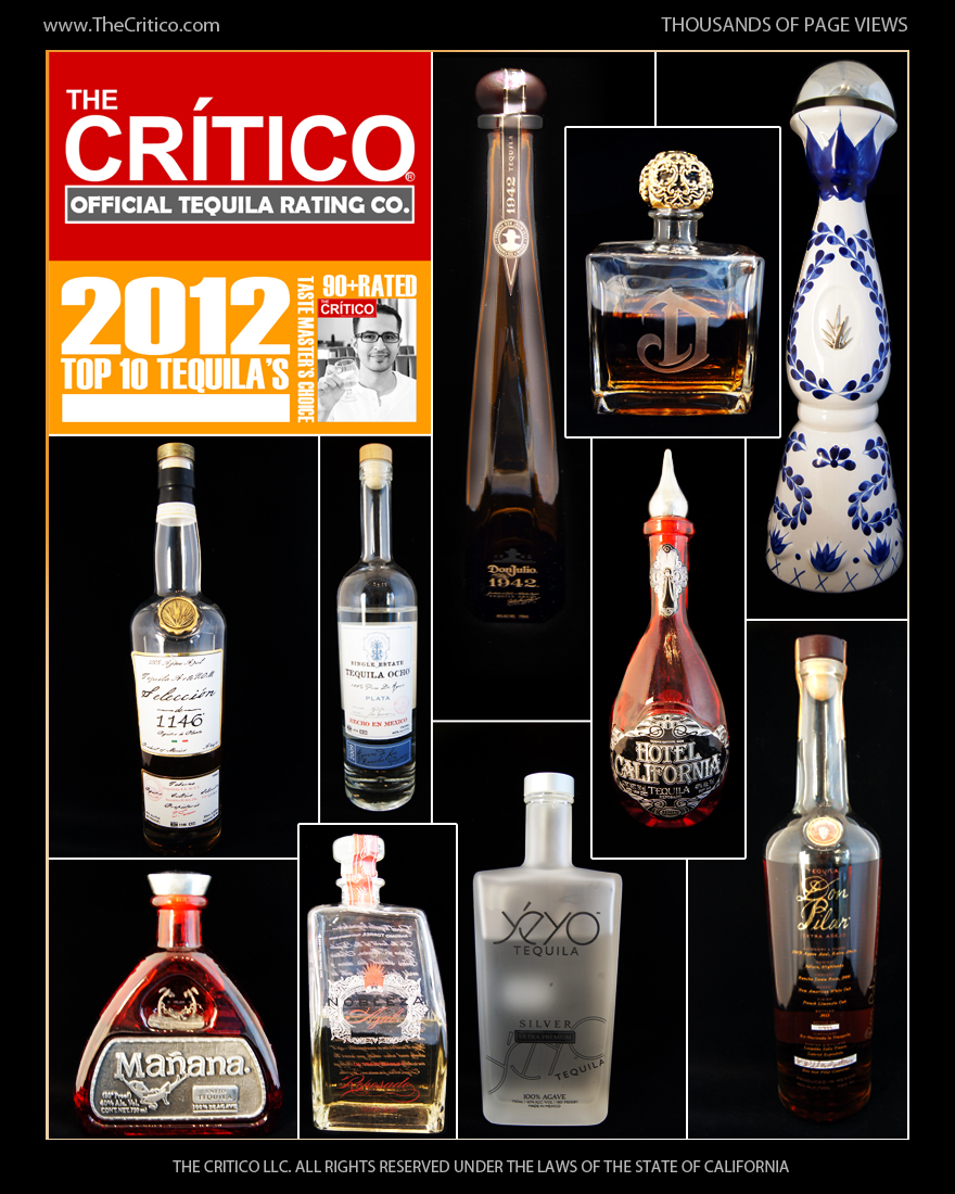 The Critico Tequila Rating Company Announces Top Ten of 2012