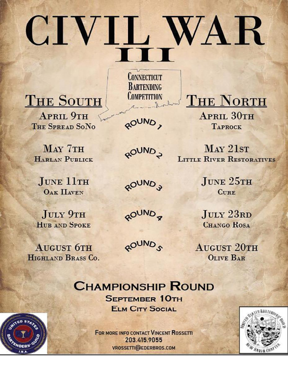 USBG's Annual North v. South Bartending Competition Set to Begin