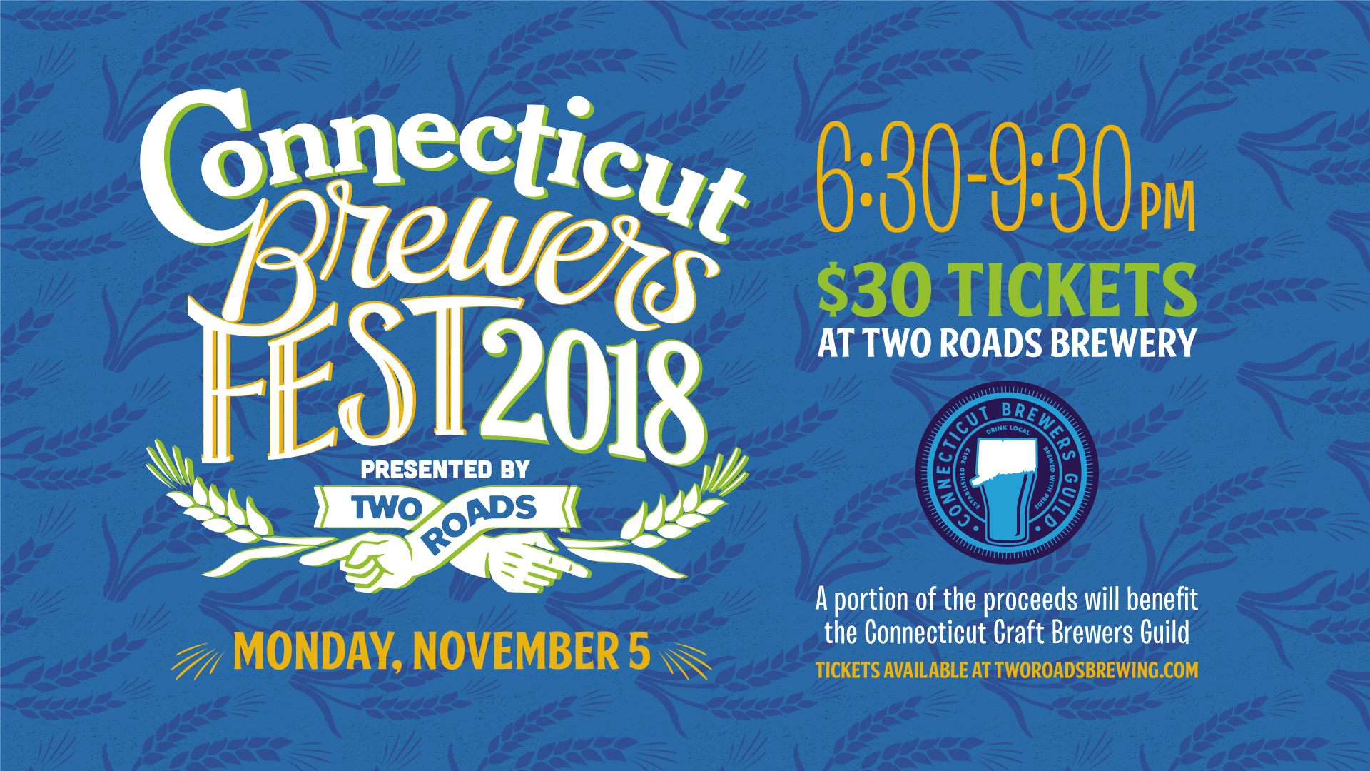 November 5, 2018: Connecticut Brewers Fest at Two Roads