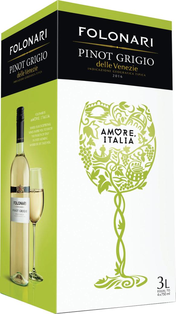 Folonari Adds New Boxed Pinot Grigio