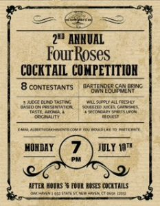 Four Roses Cocktail Competition @ Oak Haven Table & Bar