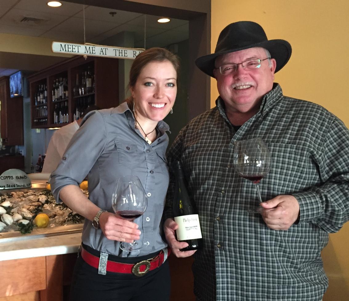 Phelps Creek Vineyards Owner Visits Liv's Oyster Bar
