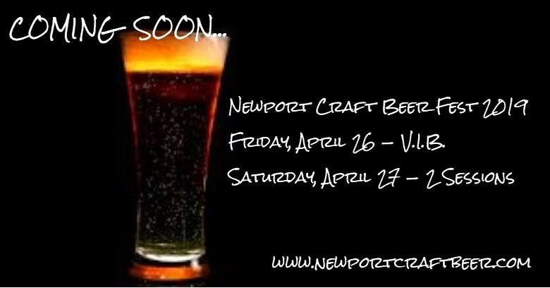 April 26-27, 2019: Newport Craft Beer Festival