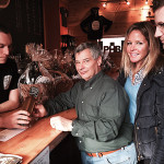 Mike McManus, Owner, Powder Hollow Brewery of Enfield; George Carabetta, Co-owner, Cellar Fine Wines; Whitney Mitchell Algieri, New Haven County Sales Rep., Cellar Fine Wines; and Jeff Shultz.Fairfield County Sales Rep., Cellar Fine Wines.
