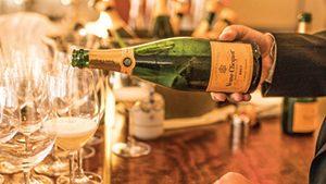 A pour of Veuve Clicquot Brut. Photo Courtesy Blaise Pope.