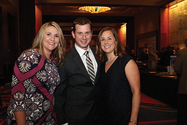 Incoming CRA Executive Director Sarah Maloney; CRA Board Chairman Phil Barnett, Hartford Restaurant Group; and Outgoing CRA Executive Director Nicole Griffin. Photo by Brian Ambrose.