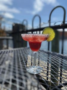 A warm-weather staple in Providence, the Hot Club Raspberry Margarita.
