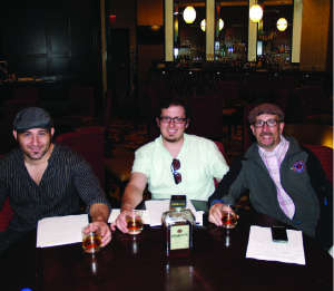 Judges Paul Sevigny, East Coast Brand Ambassador, Disaronno; Jonathon Pogash, The Cocktail Guru and Northeast Vice President, United States Bartenders Guild; and Frank Martucci, General Manager Beverage Operations Twin River Casino and National Executive Vice President United States Bartenders Guild.