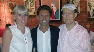 Owners of Versailles Bistro & Patisserie, Evelyne and Marc Penvenne with Eric Litchfield (center).