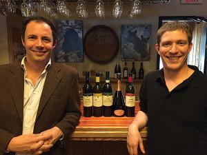 Winemaker Lorenzo Marotti Campi and Ethan Epstein, Manager, Black Bear Wines & Spirits.