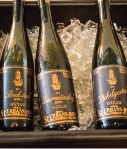 The wines on ice. Photos by Chris Almeida.