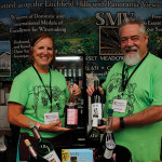 Sharon Chichester and Ken Huber, Sunset Meadow Vineyards.