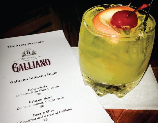 Galliano Industry Night Hosted at Providence's Avery
