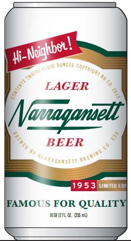 NARRAGANSETT BEER GOES RETRO WITH LIMITED-EDITION 1953 CAN