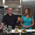 Anthony DeSerio and NBC CT host Kerri-Lynn Mayland. DeSerio explained the Roca Patrón line and spoke about the production processes.