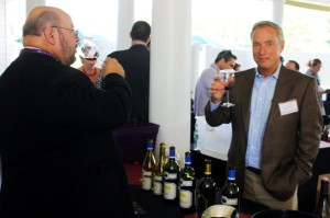 Jim Teegan of Rombauer Vineyards with Bob Andrighetti of  Winebow.