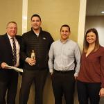 Tom Kachmarck; Adam Biondolillo, 2015 Brown Forman Wine Portfolio Winner; Chris Capozzoli, 2014 recipient; Audrey Sanders.