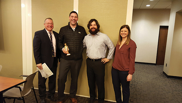 Tom Kachmarck; Adam Biondolillo, 2015 Brown Forman On-Premise Winner; Chris Munk, 2014 recipient; Audrey Sanders.
