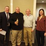 Tom Kachmarck; Steve Zgradden, 2015 Brown Forman Overall Portfolio Winner; Don Guimento, 2014 recipient; Audrey Sanders.