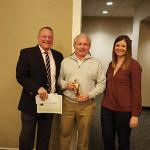 Tom Kachmarck, CT State Manager, Brown Forman; Don Guimento, 2015 George Garvin Innovation Award Winner; Audrey Sanders, CT Market Manager, Brown Forman.
