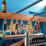 On tap at the brewery tour tasting bar. Pouring is Matt Bronson, CT and RI Market Manager, New Belgium.